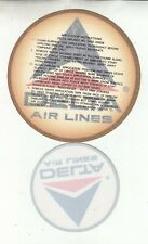 OLD DELTA AIRLINES LOGO ONE DECAL, ONE STICKER, ONE 6 INCHES, ONE 4 INCHES