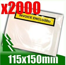2000 x Invoice Enclosed Pouch Document Envelope Sticker