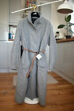 ZARA Womens Belted Coat Grey size M Medium brand new with tags