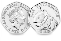 Brand New Mrs Tittlemouse 50p coin Uncirculated Fifty Pence Christmas Royal gift