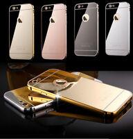 Luxury Ultra-Thin Aluminum Mirror Case Cover for Apple iPhone 7 6s Plus 5 7 Plus