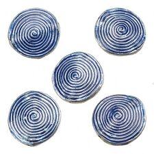 Esmaltado hipnótico Remolino Azul Metal redondo del grano 26mm Paquete de 5 (E86/12)