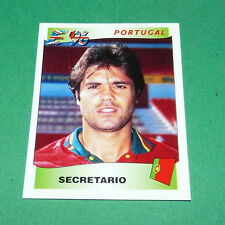N°298 SECRETARIO PORTUGAL PANINI FOOTBALL UEFA EURO 96 EUROPE EUROPA 1996