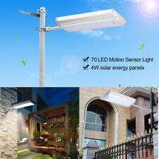 Solar Power 70 LED Outdoor Street Wall Street Lamp Motion Sensor Garden Lights