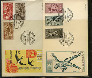 Ifni    2 cachet covers    soccer and birds      KL0731