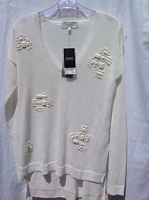 BNWT NEXT Embellished Cream Jumper Size 6 RRP £35.00