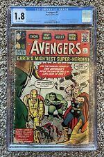 GRAIL! Avengers #1 1963 CGC 1.8 CBCS PGX 1st Silver Age Comic Hulk Thor Iron Man