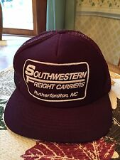 Vintage Southwestern Freight Carriers  Truckers Style  Hat New 100-829