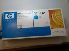 HEWLETT PACKARD HP COLOR LASERJET  Q7561A CYAN PRINT CARTRIDG. NEW. SEALED