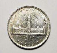 Canada 1939 Silver $1.00 One Dollar Coin