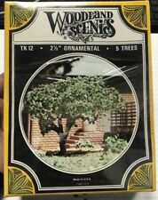 WOODLAND SCENICS TK12~ ORNAMENTAL 5-TREES 2 1/2
