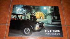 BROCHURE DEPLIANT ADVERTISEMENT PEUGEOT 504 BERLINA AUTOMATICA ITALIANO 1972