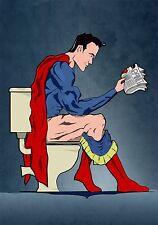 Superman Sticker Design - Retro Funny Joke Comic Batman Super Man The Flash
