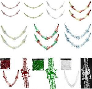 """107"""" X 12"""" Foil Garland Christmas Ceiling Wall Window Hanging Decoration"""