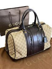 GUCCI BOSTON Bag GG Crocodile Large Authentic Borsa Gucci Grande Coccodrillo