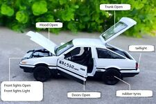 Initial D Toyota TRUENO AE86 1:28 Diecast Car Model Doors Open Light Back Force
