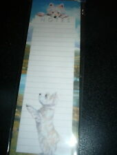 (4) OTTER HOUSE MAGNETIC LIST PADS  THE HIGHLANDS (DOGS)   50 SHEETS/PAD