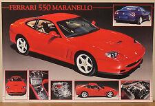 (PRL) FERRARI 550 MARANELLO TOP CAR AUTO EPOCA VINTAGE AFFICHE PRINT POSTER
