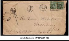 Great Britain - 1921 envelope to U.S.A. with Kgv Stamps & ''Due 4cent' Stamped