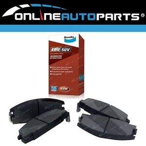 Bendix Front Disc Brake Pads Set Holden Rodeo 1988-1998 2x4 4wd Ute TFR TFS