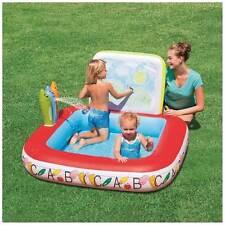Clark Rubber Splash & Play Inflatable Learn & Draw School Pool 132cmx132cmx81cm