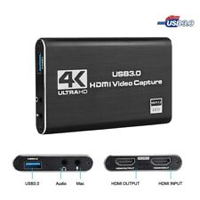 4K HDMI To USB 3.0 Video Capture Card Dongle for OBS Game Live Stream Mic Input
