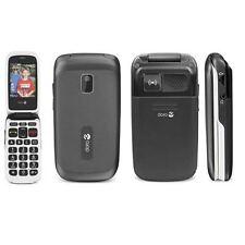 Doro phone easy 612 noir débloqué caméra coquille téléphone portable flip grade b