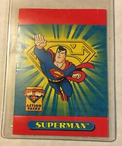"""1996 PROMO SKYBOX SUPERMAN """"Flying from SkyBox Fall"""" Gum       (PC-46) with Card"""