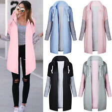 Women's Long Sleeve Hoodies Cardigan Jacket Sweatshirt Ladies Outwear Coat Top