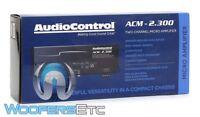 AUDIOCONTROL ACM-2.300 2 CHANNEL MOTORCYCLE AMPLIFIER SUBWOOFER SPEAKERS AMP NEW