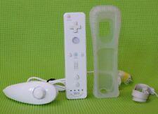 original Wii Remote Motion Plus Fernbedienung Controller mit Nunchuck in weiss