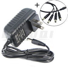12V AC DC Power Adapter Supply & Splitter For QSee Zmodo LOREX Security Camera
