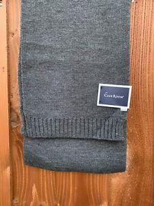 "Club Room Men's Winter Scarf Size 9"" x 65"" Knit Acrylic Gray New"