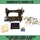 Antique National Two (2) Spool Treadle Sewing Machine Eldridge Double Quilting