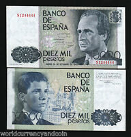 SPAIN 10000 PESETAS P161 1985 EURO KING JUAN UNC CURRENCY MONEY BILL BANK NOTE