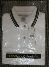 NIP IZOD Club Ladies White Polo Shirt Small Sm Golf Golfing Tennis 100% Cotton o