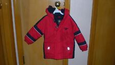 Childs Hooded Winter Coat 3T Oshkosh B'Gosh Red with Blue and white trim