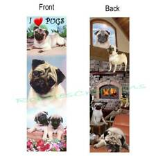 PUG BOOKMARK FAWN Tan Puppy I Love Pugs Cute puppies DOG ART Book Card Ornament
