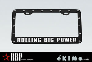 RBP LICENSE PLATE FRAME BLACK POWDER CADILLAC ESCALATE SRX FORD F150 F250 F350
