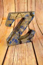 FANTASTIC VINTAGE STYLE BLUE 3D METAL SHOP SIGN LETTER Z ADVERTISING FONT