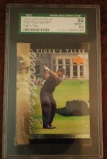 GRADED GOLF PGA CARD 2001 UPPER DECK TIGERS TALES TIGER WOODS TT26 92 NM 8.5