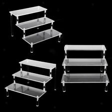 3pcs Deluxe Acrylic Display Stand Removable Rack for Model Figures Perfume