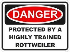 Dog Breed ROTTWEILER Danger Sticker Pet for Bumper Locker Car Door