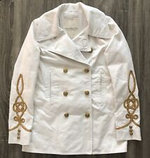 Ralph Lauren Denim & Supply Women's Canvas Pea Coat Size Medium White