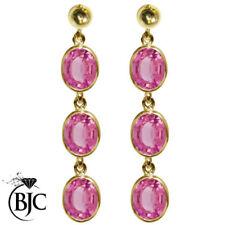 Pendientes de joyería con gemas Mariposa oro amarillo topacio