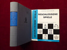Buch Schach, Ludék Pachman, Geschlossene Spiele, Schachtheorie, Sportverlag 1965