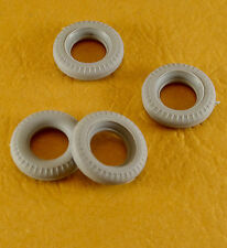 4 CORGI TOYS  GREY 15mm new rubber TIRES-  for  #224 BENTLEY CONTINENTAL