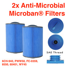More details for 2x filter 50ft² microban anti-microbial hot tub filter 6ch-940 pww50 fc-0359