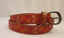 Women's Lucky Brand Aztec Embroidered  Leather   Belt Small