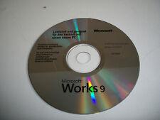 Microsoft Works 9.0 deutsch / Textverarbeitung, Tabellenkalkulation, Datenbank